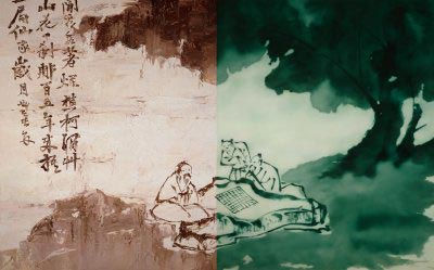 He Sen - Xu Wei Twelve parts in Splash-ink no.4 (diptych)